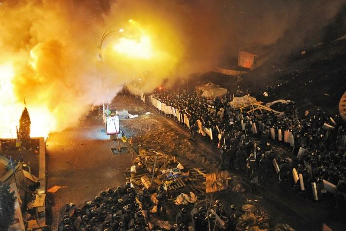 СБУ назвала розгін протестувальників на Майдані антитерористичною акцією, 18.02.2014